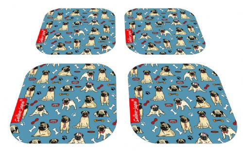Selina-Jayne Pug Dog Limited Edition Designer Coaster Gift Set